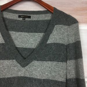 BCBGMaxAzria Sweaters - * BCBG Maxazria Striped v neck soft Sweater